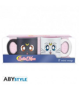 Sailor Moon - Set 2 Mini Mug/Tazza Luna & Artemis