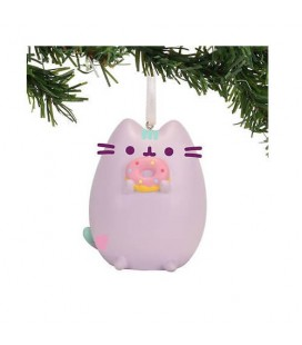 PUSHEEN THE CAT MINI - DECORAZIONE NATALIZIA PUSHEEN INVERNALE CON CIAMBELLA 11 CM