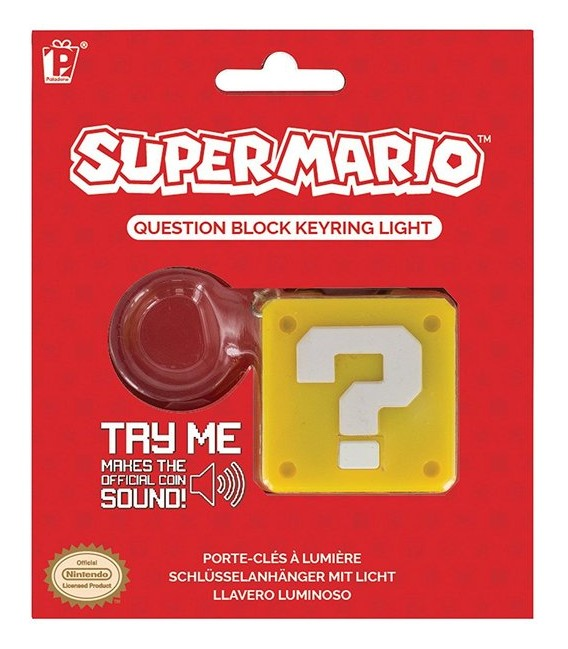 "SUPER MARIO BROS - KEYRING/PORTACHIAVI ""QUESTION BLOCK"""