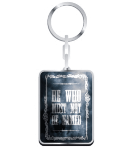 "HARRY POTTER - PORTACHIAVI/KEYRING ""HE WHO MUST NOT BE NAMED"""