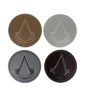 ASSASSIN'S CREED - METAL COASTERS/SOTTOBICCHIERI METALLICI - SET 4 PCS