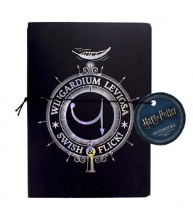 "HARRY POTTER - NOTEBOOK + PEN ""WINGARDIUM LEVIOSA"""