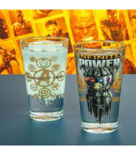 "MARVEL - GLASS / BICCHIERE ""AVENGERS INFINITY WAR"" THANOS"