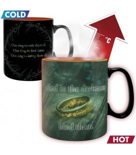 The Lord of The Rings - Heat Change Mug - Tazza Termica Unico Anello e Sauron - Abystyle - 460 ml