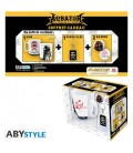 "CAPITAN HARLOCK - GIFT BOX - MUG/TAZZA KING SIZE 460ML + PORTACHIAVI/KEY RING + BADGES/SPILLE ""EMBLEM"