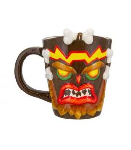 Crash Bandicoot - Paladone - Uka Uka Shaped Mug - Tazza 3D - Ceramica - 11 Cm