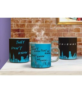 Friends - Paladone - They Don't Know - Heat Change Mug - Tazza Termica - 300 Ml - Ceramica