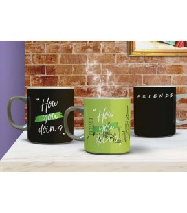 "FRIENDS - MUG HEAT CHANGE/ TAZZA TERMICA ""HOW YOU DOIN?"""