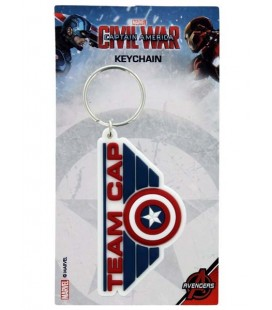 "CAPTAIN AMERICA -PORTACHIAVI/KEYRING ""CIVIL WAR TEAM CAP"""