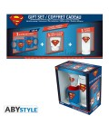 "DC COMICS - GIFT BOX - GLASS/BICCHIERE 29CL + SHOT + MINI MUG/TAZZA ""SUPERMAN"""