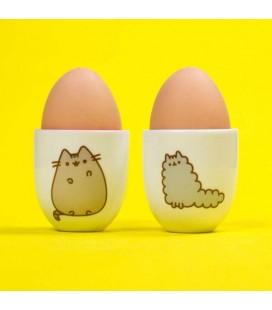 Pusheen the Cat - Portauova - Egg Cups Set - Stormy e Pusheen - 2 pcs - ceramica