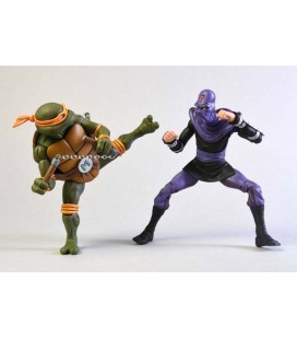 "NINJA TURTLES - ACTION FIGURE ""MICHELANGELO VS FOOT SOLDIER""18CM"