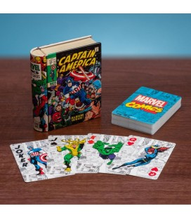 """MARVEL - GADGET PLAYING CARDS/CARTE DA GIOCO """"COMIC BOOK"""""""