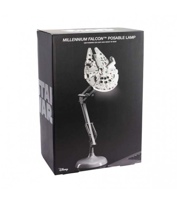"STAR WARS - POSABLE DESK LAMP/LAMPADA DA TAVOLO - 60 CM ""MILLENNIUM FALCON"""