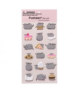 PUSHEEN THE CAT - GADGET STICKERS ADESIVI PUSHEEN AND FOOD""