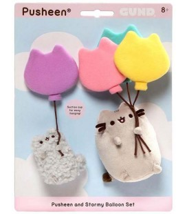 PUSHEEN THE CAT - PUSHEEN AND STORMY AIR BALOONS/PALLONCINI - 12 AND 7 CM