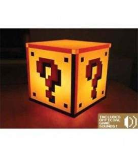 Paladone - Super Mario Bros - Question Block Light - Lampada - With sound and light - Luci e suoni - 18 Cm