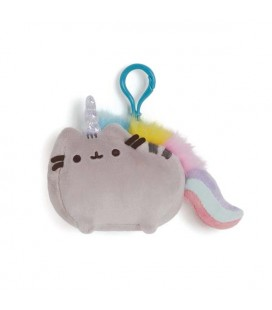 "PUSHEEN THE CAT - PELUCHE/PLUSH PUSHEENCORN WITH CLIP/PUSHEEN UNICORNO CON CLIP"" 14CM"