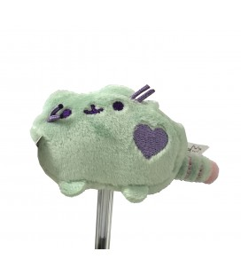 "PUSHEEN THE CAT - PELUCHE GADGET/PLUSH GADGET ""PUSHEEN COPRI PENNA /PUSHEEN PENCIL TOPPERS"" GREEN/VERDE 6CM"