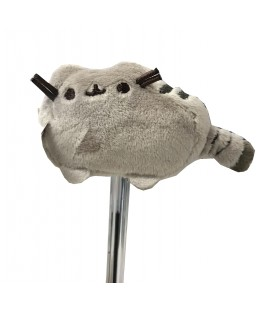 "PUSHEEN THE CAT - PELUCHE GADGET/PLUSH GADGET ""PUSHEEN COPRI PENNA /PUSHEEN PENCIL TOPPERS"" GREY/GRIGIO 6CM"