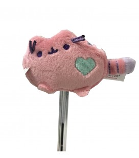 "PUSHEEN THE CAT - PELUCHE GADGET/PLUSH GADGET ""PUSHEEN COPRI PENNA /PUSHEEN PENCIL TOPPERS"" PINK 6CM"