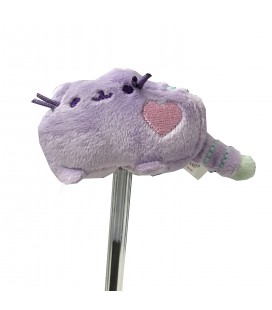 "PUSHEEN THE CAT - PELUCHE GADGET/PLUSH GADGET ""PUSHEEN COPRI PENNA /PUSHEEN PENCIL TOPPERS"" PURPLE/VIOLA 6CM"