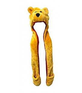 "PIDAK SHOP - CAPPELLO/HAT ""ORSO GIALLO CON SCIARPA/ YELLOW BEAR WITH SCARF"""