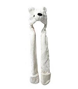 Cappello Cosplay Orso polare con sciarpa - Taglia unica da adulto - Pidak Shop
