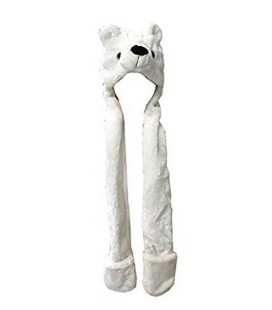 "PIDAK SHOP - CAPPELLO/HAT ""ORSO POLARE CON SCIARPA/POLAR BEAR WITH SCARF"""