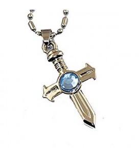 Collana a Croce con pietra azzurra - Pidak Shop