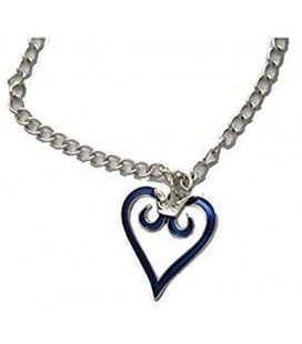 "PIDAK SHOP - NECKLACE/COLLANA ""CUORE BLU/BLUE HEART"" 3CM"