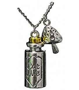 "PIDAK SHOP - NECKLACE/COLLANA ""FUNGO E FLACONE/MUSHROOM AND BOTTLE"""