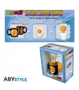 "DRAGON BALL - GIFT BOX - GLASS/BICCHIERE 29CL + SHOT + MINI MUG/TAZZA ""CRYSTAL BALL"""