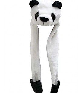 "PIDAK SHOP -CAPPELLO/HAT ""PANDA CON SCIARPA/PANDA BEAR WITH SCARF"""