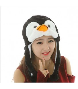 Cappello pinguino con pon pon pigtails - Unisex - Cosplay Kawaii - Adulto tg. Unica One size