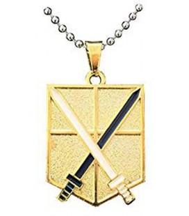 Collana dello scudo dorato con spade incrociate - Pidak Shop