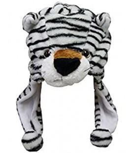 Cappello con pon pon tigre bianca - Pidak Shop