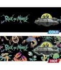 ABYstyle - Rick & Morty - Tazza Cambia Colore con Calore - 460 ml - Astronave - HEAT CHANGE MUG