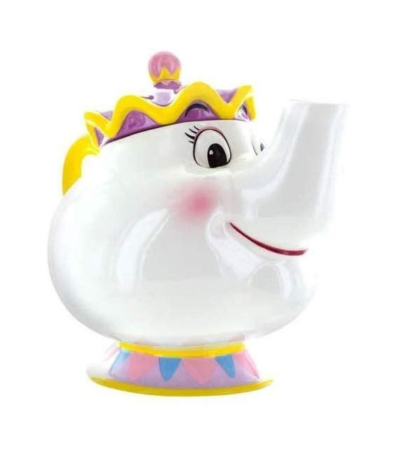 "LA BELLA E LA BESTIA - BEAUTY AND BEAST - TEA POT TEIERA ""MRS. TEAPOT CERAMICA 24 x 17 x 20 cm"