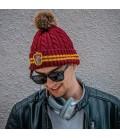 Cinereplicas - Harry Potter - Cappello con PON PON - Licenza Ufficiale - Casa Grifondoro - Rosso e Giallo