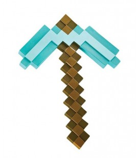 MINECRAFT OFFICIAL BY DISGUISE - GADGET PICCONE DIAMANTE DIAMOND PICKAXE 50 CM - PVC