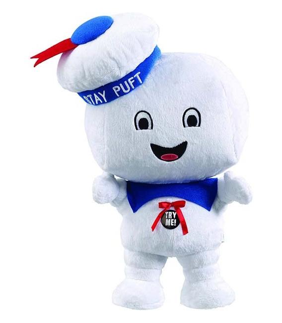 38 CM - Ghostbusters Talking Plush Figure Stay Puft Marshmallow Man Happy *English Version*