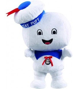 38 CM - Ghostbusters Talking Plush Figure Stay Puft Marshmallow Man Happy *English Version*