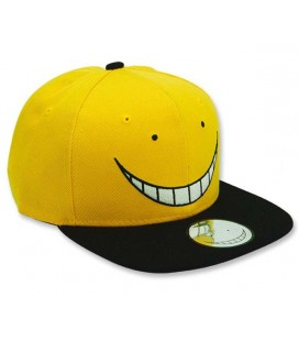 ABYstyle - Assassination Classroom - Cappellino Cappello Snapback - Koro - Nero & Giallo - REGOLABILE ONE SIZE ADULT