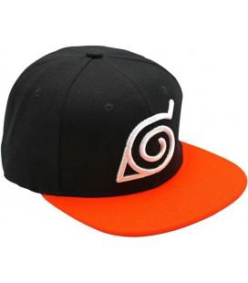 ABYstyle- Naruto Shippuden Cappellino - Cappello - Konoha, Colore Nero/Arancio, Taglia Unica