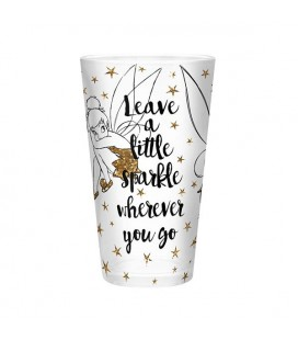 Abystyle - Disney - Peter Pan - Glass Xxl - 500 Ml - Tinkerbell - Oro/Glitter - Trilly