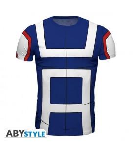 ABYstyle - My Hero Academia - size L - Replica T-Shirt - Studente - Azzurro e Bianco - Cosplay