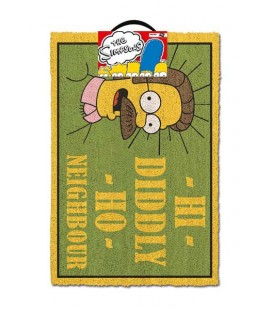 The Simpsons Zerbino Hi Diddly Ho Neighbour, Multi Coloured, 40 x 60 cm Doormat Flanders