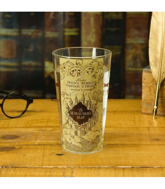 "HARRY POTTER - GLASS / BICCHIERE - 400 ML ""MARAUDERS MAP"""