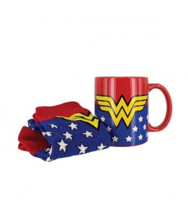 "WONDER WOMAN - MUG AND SOCKS/TAZZA E CALZINI ""GIFT BOX"""